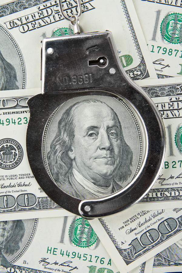 χειροπέδες τραπεζογρα&m στοκ φωτογραφία με δικαίωμα ελεύθερης χρήσης