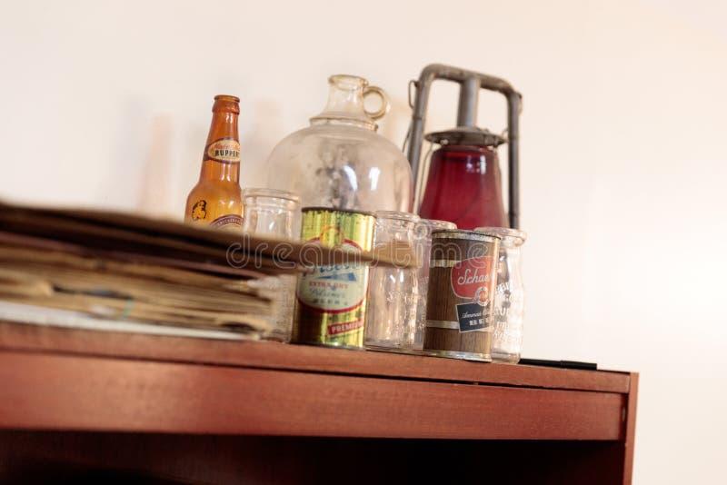 Χειροποίητα αντικείμενα που ανακαλύπτονται στο ξενοδοχείο Νεοϋρκέζου, Μανχάταν στοκ εικόνες