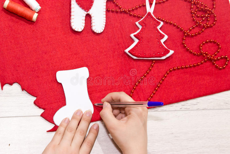 Χειροποίητα παιχνίδια Χριστουγέννων στοκ εικόνες