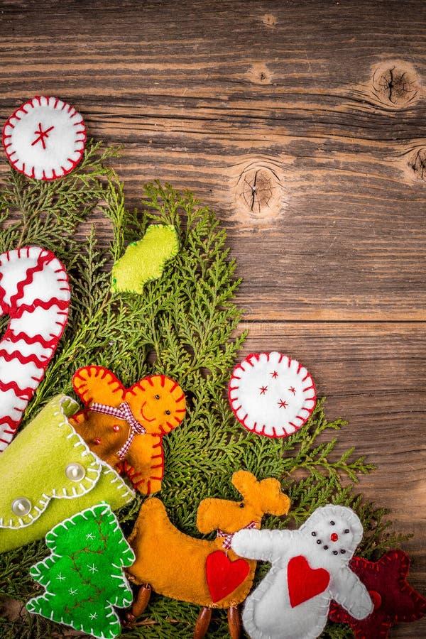 Χειροποίητες διακοσμήσεις Χριστουγέννων στοκ φωτογραφίες