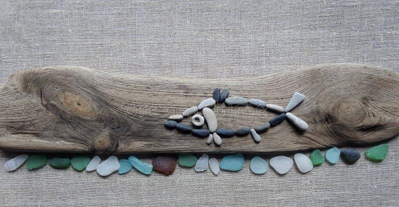 Χειροποίητη εικόνα - τα ψάρια, χρησιμοποίηση βλέπουν την καλοσύνη, Λιθουανία στοκ φωτογραφίες