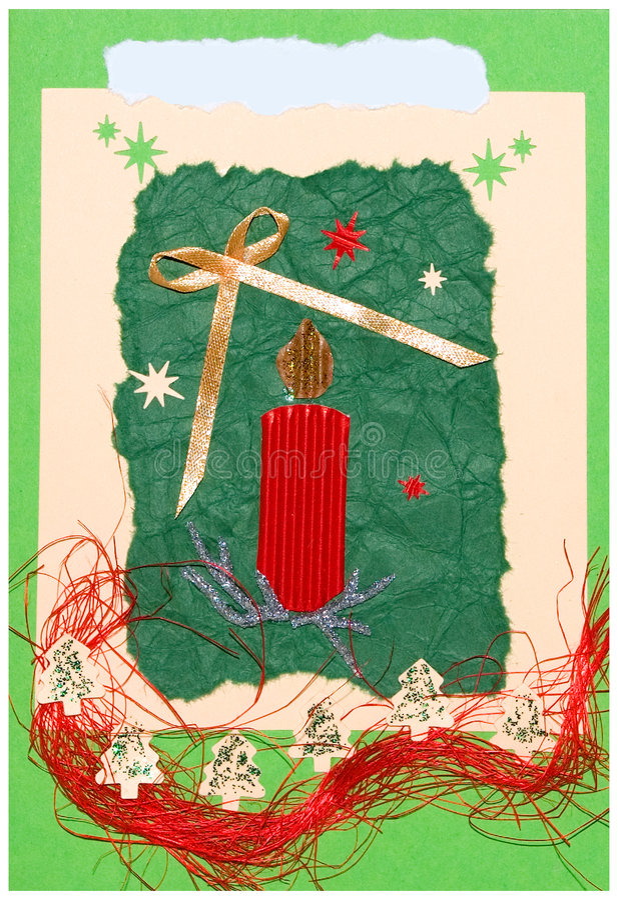 χειροποίητη κάρτα Χριστουγέννων απεικόνιση αποθεμάτων