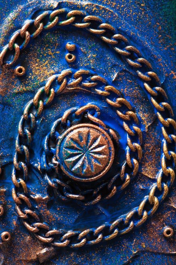 Χειροποίητη μηχανική αλυσίδα υποβάθρου steampunk στοκ φωτογραφία