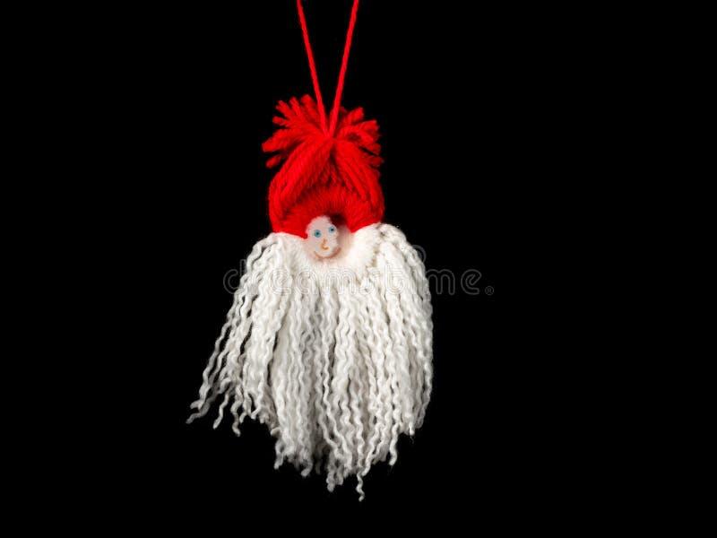 Χειροποίητος αφηρημένος αριθμός ένωσης Άγιου Βασίλη φιαγμένος από μαλλί στοκ εικόνα