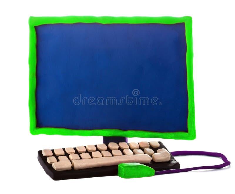 Χειροποίητος υπολογιστής Plasticine στοκ φωτογραφίες