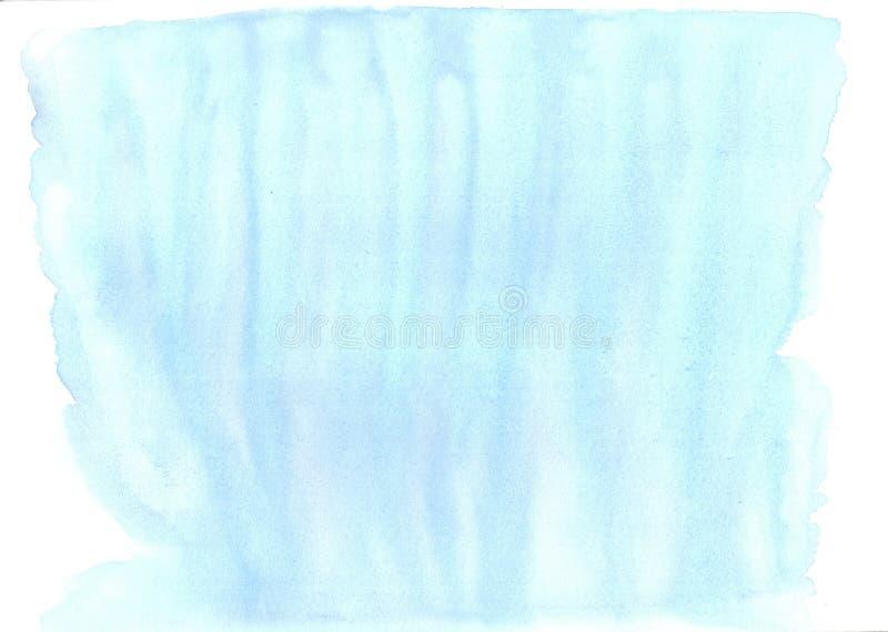 Χειροποίητος ψεκασμός υποβάθρου watercolor μπλε αφηρημένος απεικόνιση αποθεμάτων