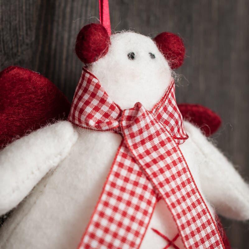 Χειροποίητο παιχνίδι Χριστουγέννων χιονανθρώπων στοκ φωτογραφίες με δικαίωμα ελεύθερης χρήσης