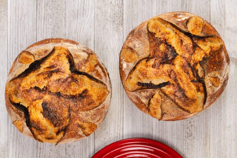Χειροτεχνικό τηγάνι ψωμιού και ψησίματος στοκ εικόνα
