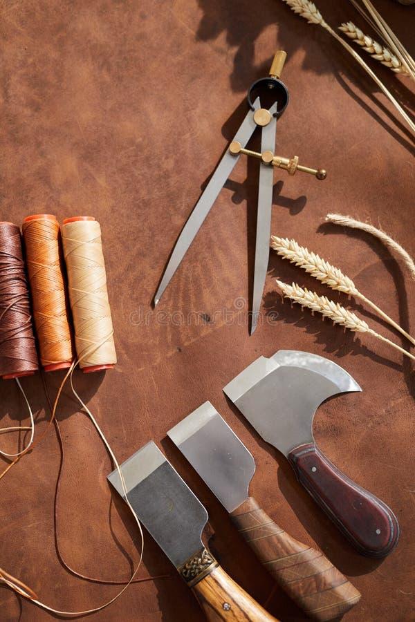 Χειροτεχνικό Leatherwork στοκ εικόνες με δικαίωμα ελεύθερης χρήσης