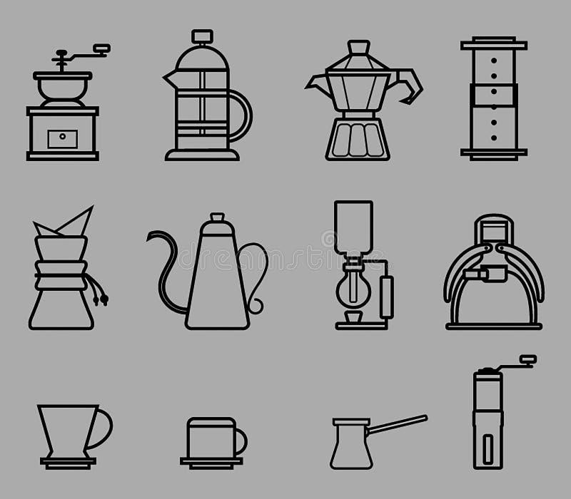 Χειρωνακτική περίληψη ζυθοποιών καφέ ελεύθερη απεικόνιση δικαιώματος