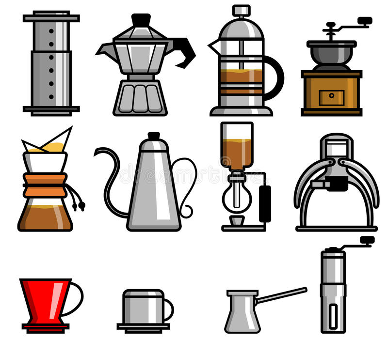 Χειρωνακτικοί ζυθοποιοί καφέ ελεύθερη απεικόνιση δικαιώματος