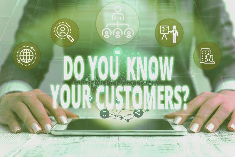 Χειρόγραφη γραφή Γνωρίζετε ότι οι πελάτες σας ρωτούν Έννοια που σημαίνει ότι το να ζητάς να αναγνωρίσεις έναν πελάτη είναι η φύση στοκ εικόνες με δικαίωμα ελεύθερης χρήσης