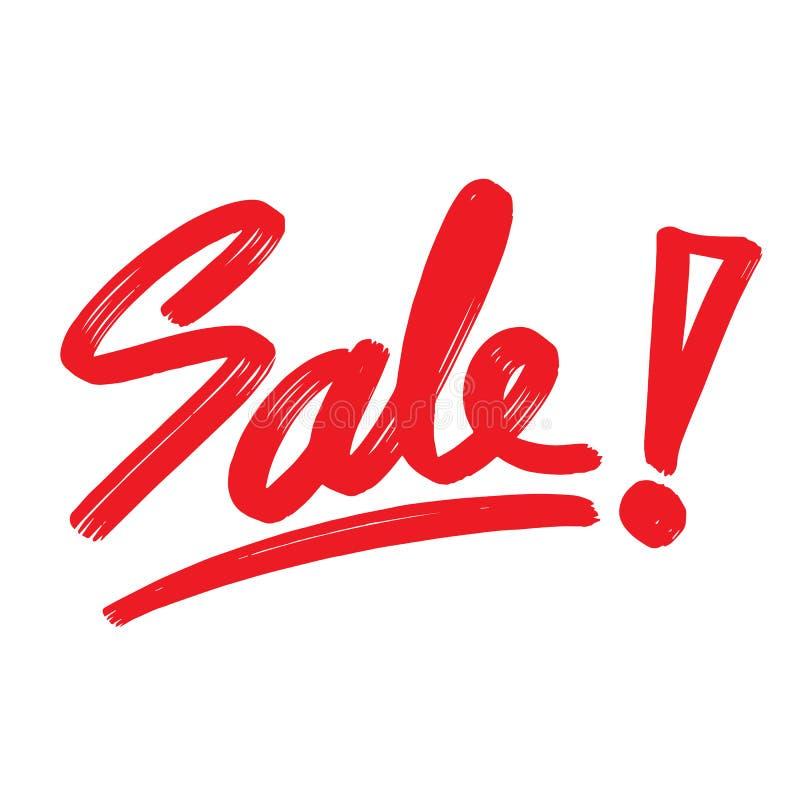 Χειρόγραφη εγγραφή μελανιού πώλησης Απομονωμένος καλλιγραφικός για το promo διανυσματική απεικόνιση