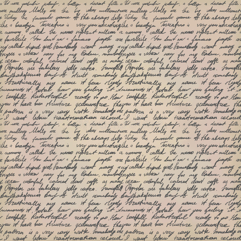 Χειρόγραφη επιστολή ελεύθερη απεικόνιση δικαιώματος