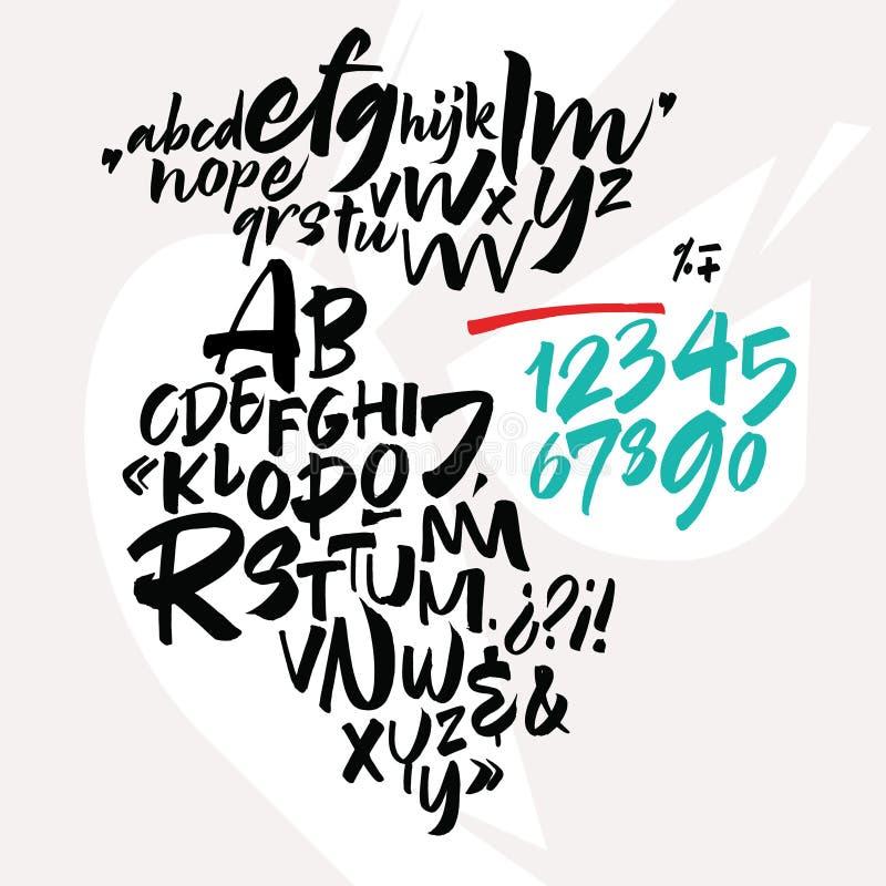 Χειρόγραφη πηγή script Λατινικό καλλιγραφικό σύνολο απεικόνιση αποθεμάτων