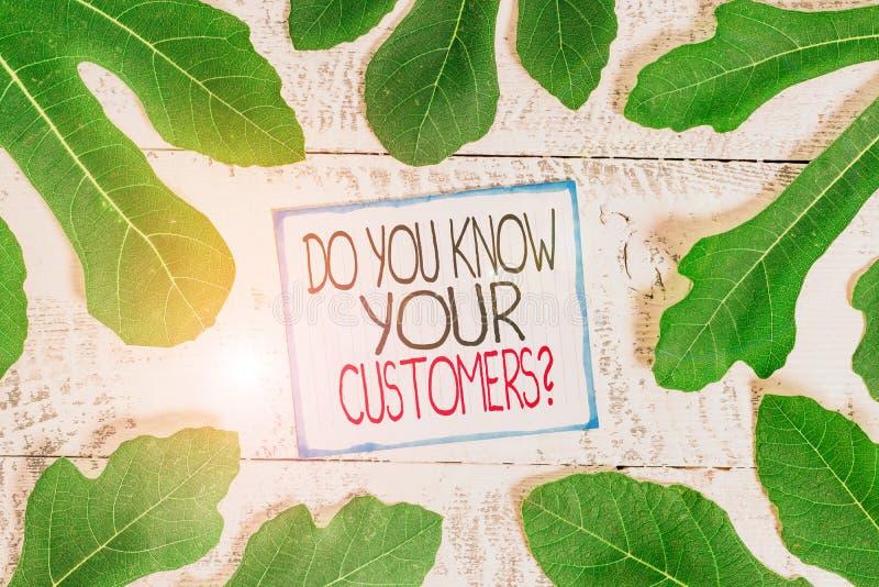 Χειρόγραφο κείμενο Γνωρίζετε ότι οι πελάτες σας ρωτούν Έννοια που σημαίνει να ζητάς να αναγνωρίσεις έναν πελάτη είναι η φύση Φύλλ στοκ εικόνες με δικαίωμα ελεύθερης χρήσης