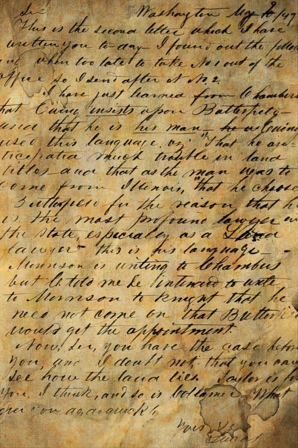 χειρόγραφο παλαιό στοκ εικόνες