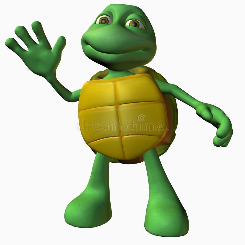 χελώνα αγοριών γειά σου διανυσματική απεικόνιση