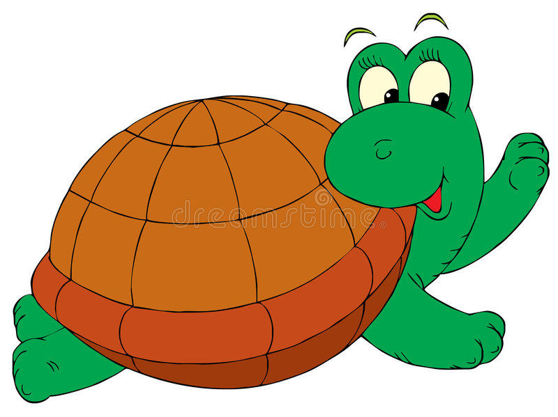 Χελώνα (διανυσματική συνδετήρας-τέχνη) διανυσματική απεικόνιση