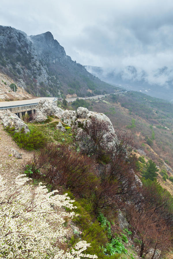 Χερσόνησος της Κριμαίας, κάθετο τοπίο λ στοκ εικόνες