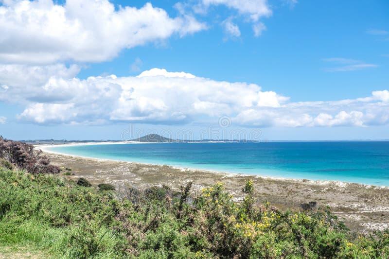 Χερσόνησος Karikari, ο μακρινός Βορράς, γη του βορρά, Νέα Ζηλανδία, NZ - ο Δρ στοκ φωτογραφίες