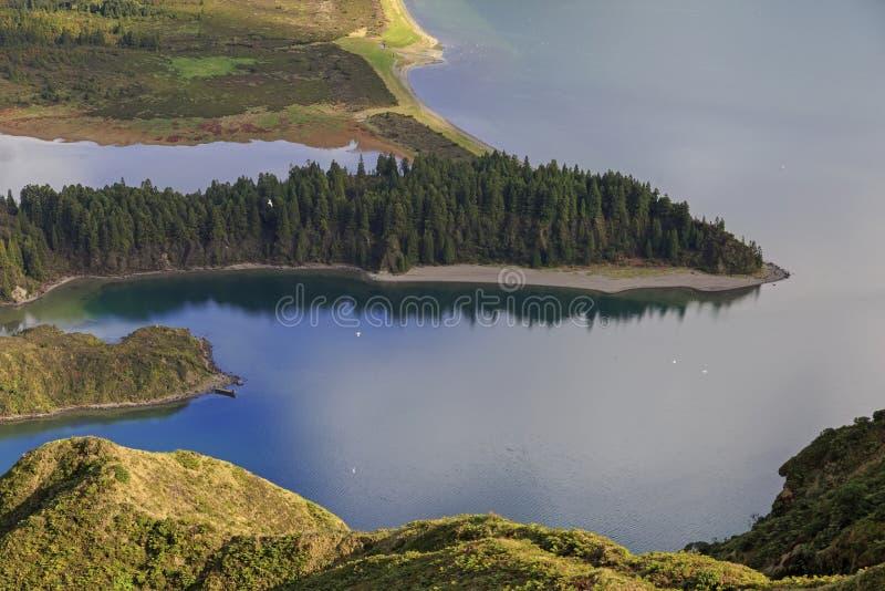 Χερσόνησος Lagoa do Fogo, νησί SAN Miguel στοκ εικόνα με δικαίωμα ελεύθερης χρήσης