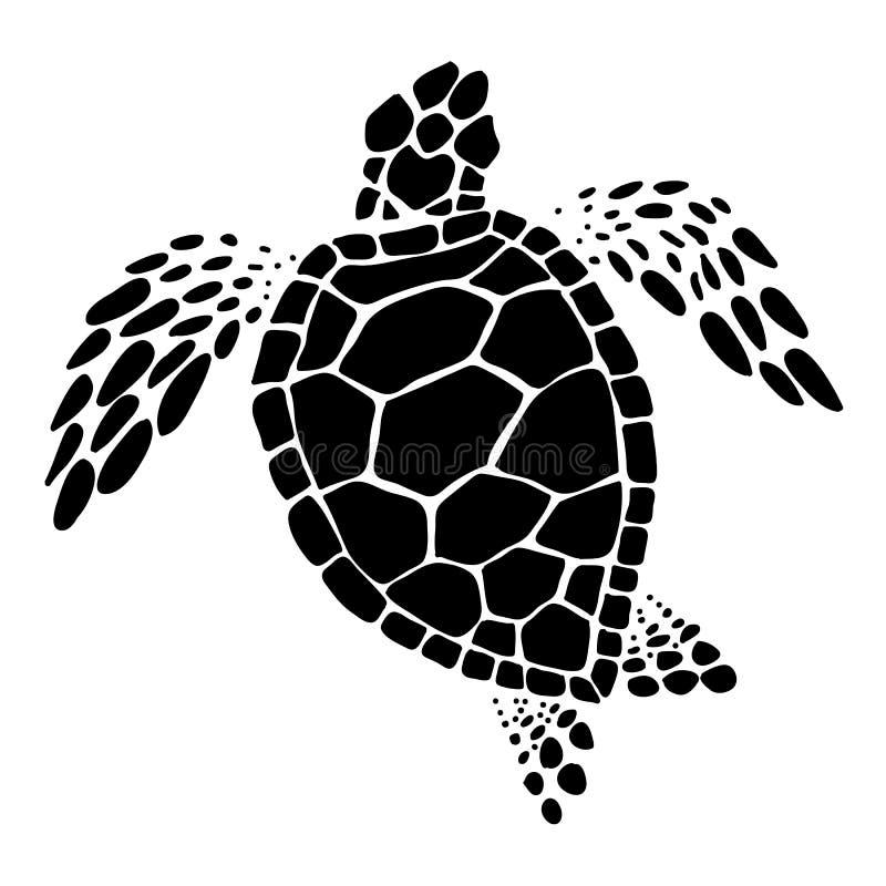 Χελώνα θάλασσας, διάνυσμα ελεύθερη απεικόνιση δικαιώματος