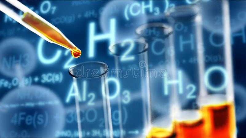 Χημεία καυσίμων στοκ φωτογραφίες