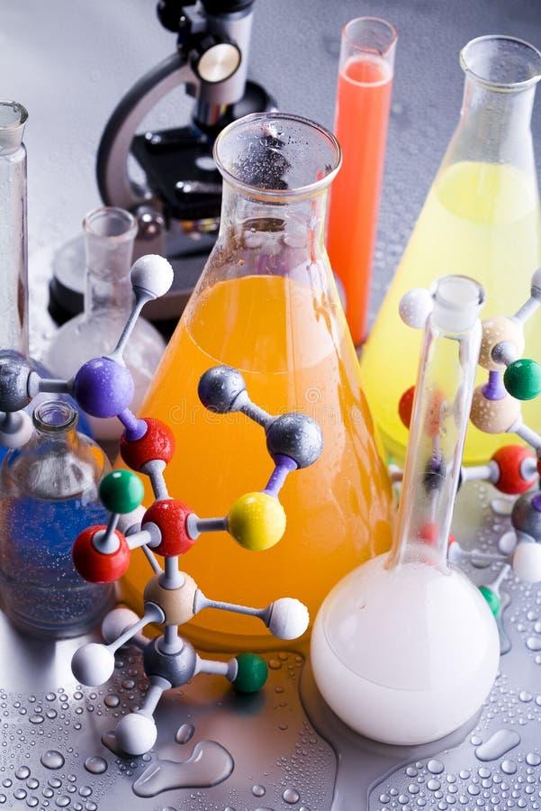 χημεία της βιολογίας στοκ εικόνα με δικαίωμα ελεύθερης χρήσης