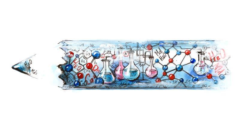 Χημεία διανυσματική απεικόνιση