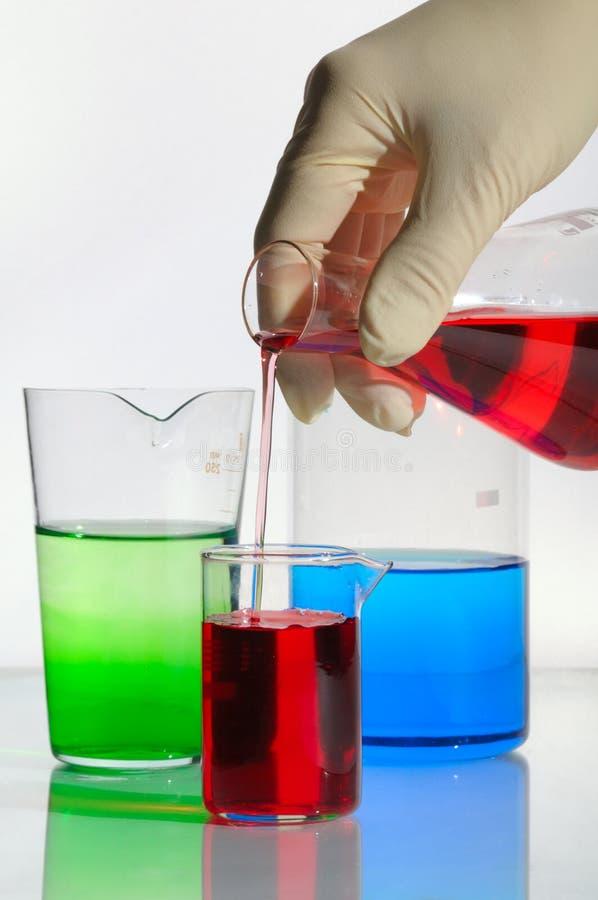 χημικά γυαλικά στοκ εικόνα