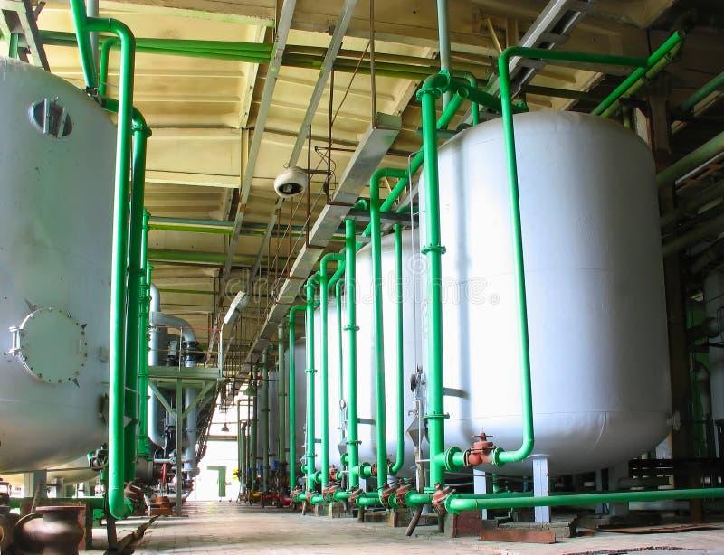 χημικές βιομηχανικές δεξ&alp στοκ φωτογραφίες