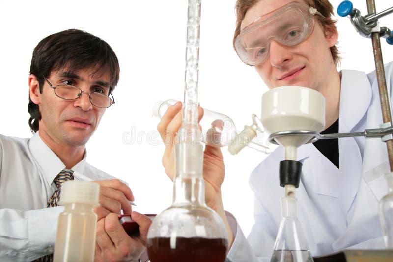 χημικοί επιστήμονες δύο &epsilo στοκ εικόνες