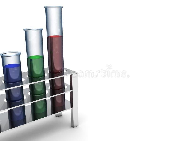 χημικοί σωλήνες ανασκόπησης απεικόνιση αποθεμάτων