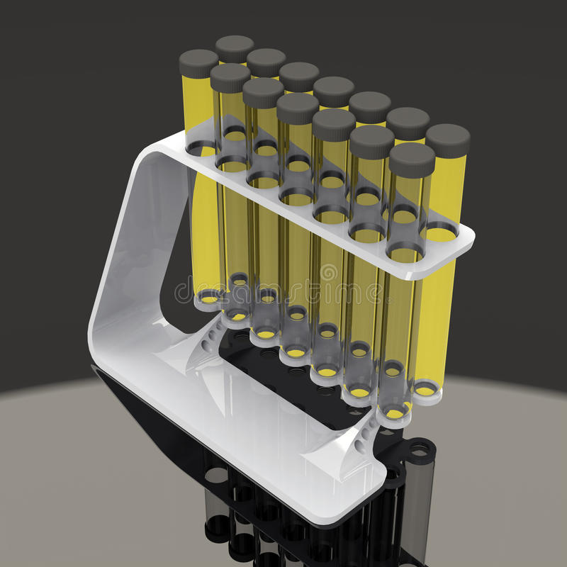 Χημικοί σωλήνες δοκιμής καθορισμένοι στοκ εικόνα
