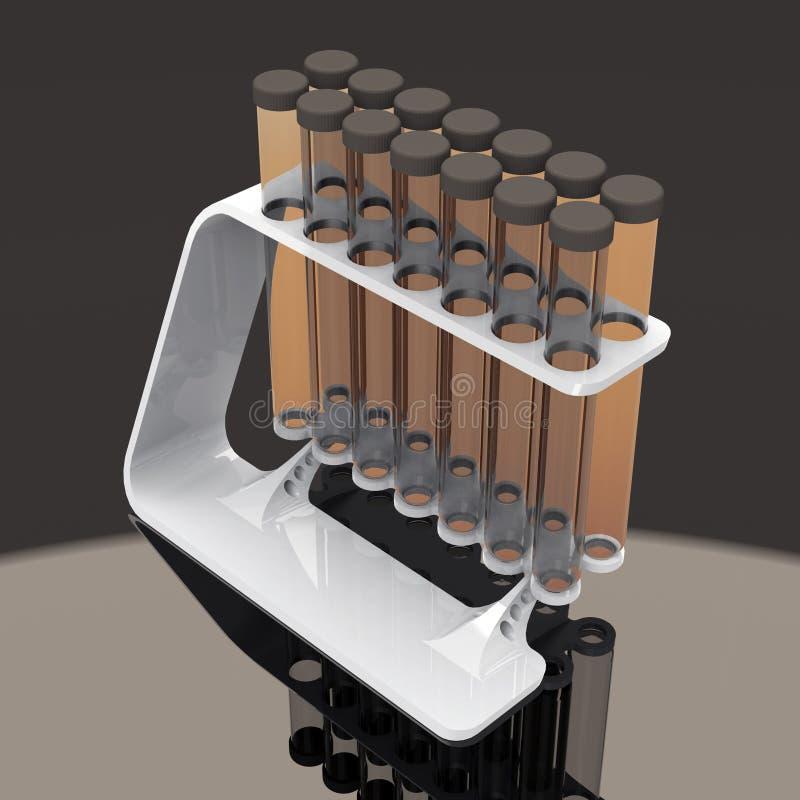 Χημικοί σωλήνες δοκιμής καθορισμένοι απεικόνιση αποθεμάτων