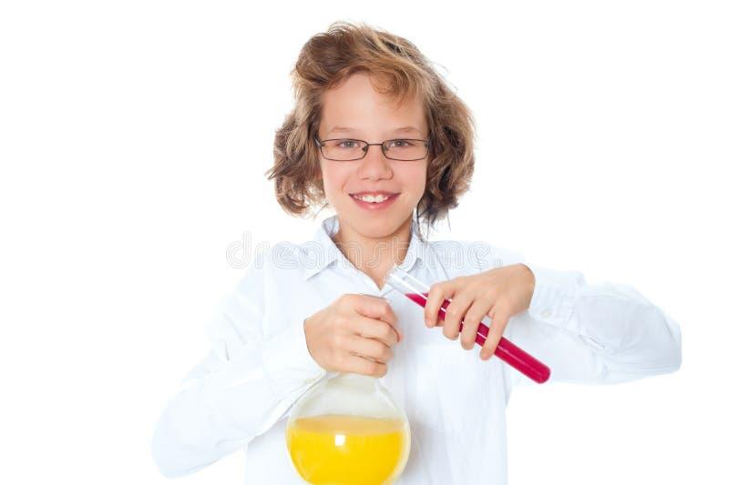 χημικός αγοριών στοκ εικόνα