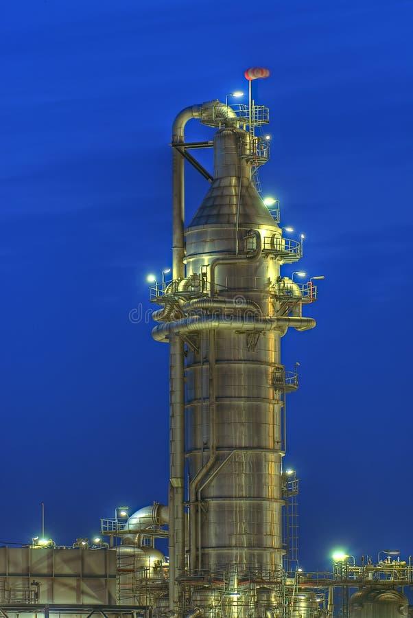 χημικός πύργος στοκ εικόνες