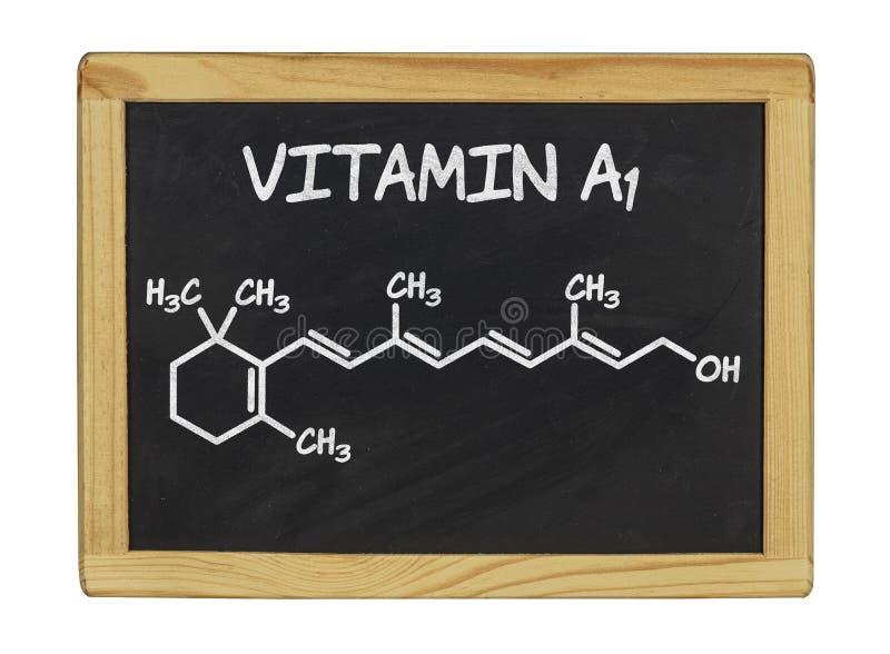 Χημικός τύπος της βιταμίνης Α στοκ φωτογραφία με δικαίωμα ελεύθερης χρήσης