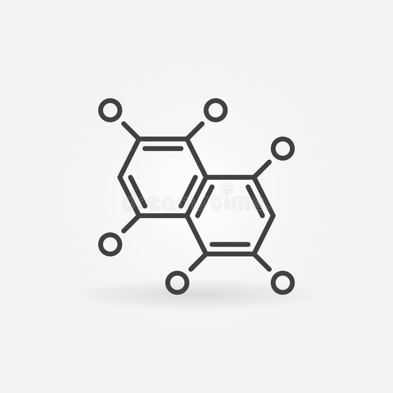Χημικό εικονίδιο περιλήψεων τύπου Διανυσματικό σύμβολο χημείας ελεύθερη απεικόνιση δικαιώματος