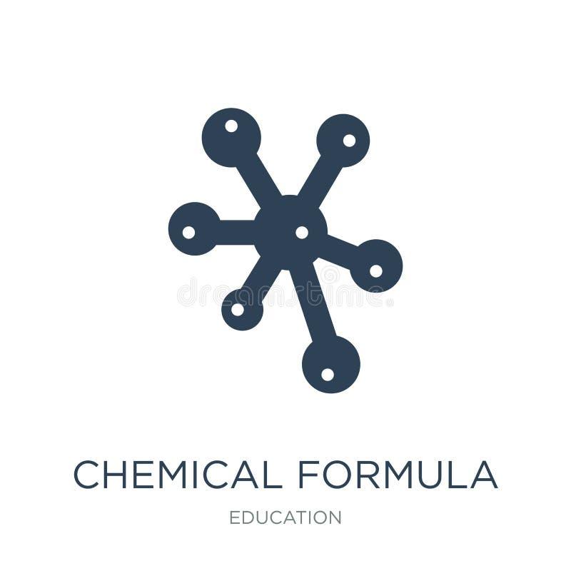 χημικό εικονίδιο τύπου στο καθιερώνον τη μόδα ύφος σχεδίου χημικό εικονίδιο τύπου που απομονώνεται στο άσπρο υπόβαθρο χημικό διαν ελεύθερη απεικόνιση δικαιώματος