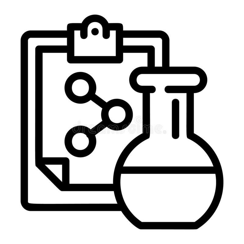 Χημικό εικονίδιο τύπου φιαλών, ύφος περιλήψεων ελεύθερη απεικόνιση δικαιώματος