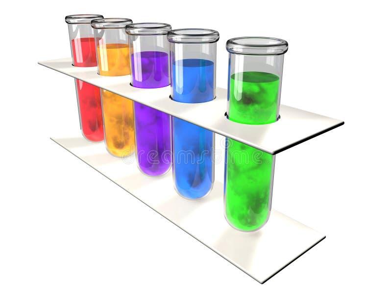 Χημικό εργαστήριο ανάλυσης σωλήνων δοκιμής απεικόνιση αποθεμάτων