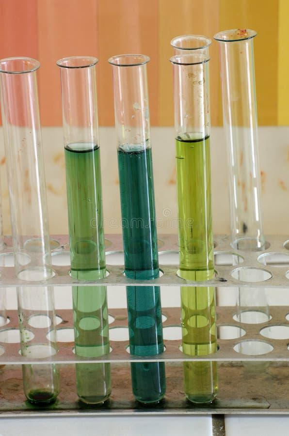 Χημικό θέμα σωλήνων δοκιμής στοκ φωτογραφίες με δικαίωμα ελεύθερης χρήσης