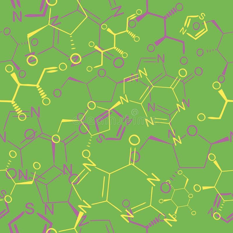 χημικό πρότυπο άνευ ραφής απεικόνιση αποθεμάτων