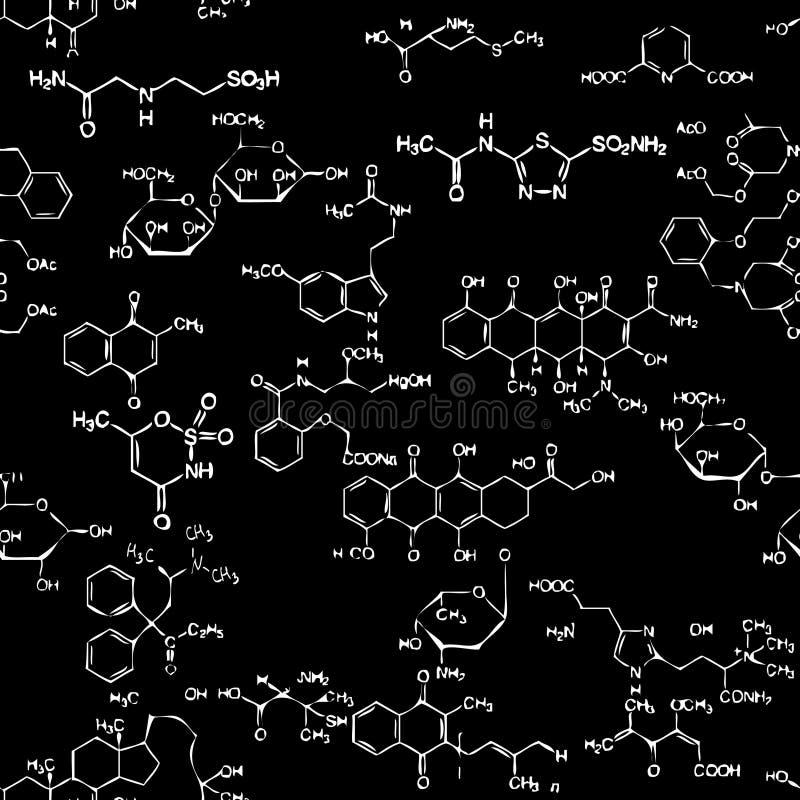 χημικό πρότυπο άνευ ραφής ελεύθερη απεικόνιση δικαιώματος