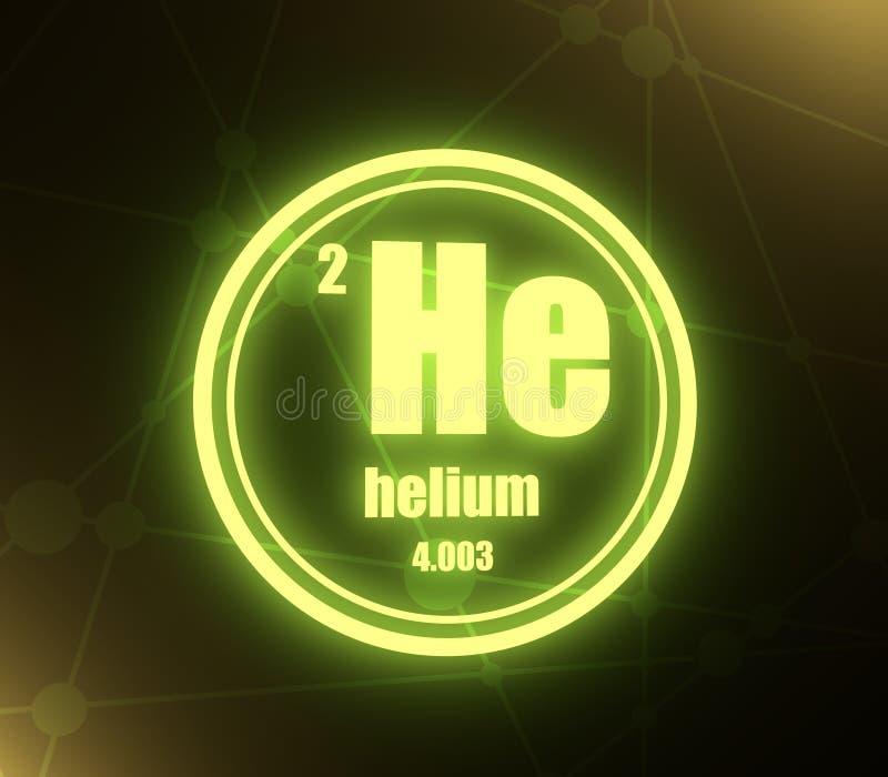 Χημικό στοιχείο ηλίου διανυσματική απεικόνιση