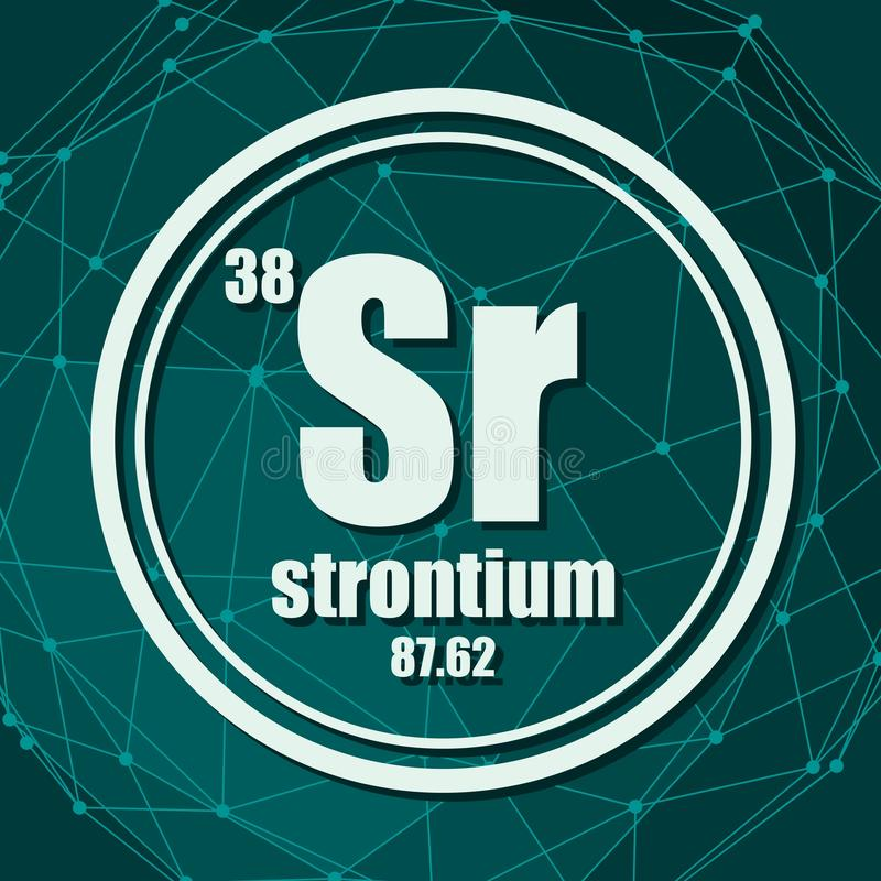 Χημικό στοιχείο στροντίου διανυσματική απεικόνιση
