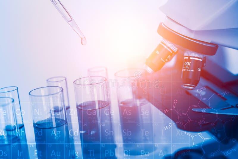 Χημικό υγρό δειγμάτων μείωσης ερευνητικών σιφωνίων επιστήμης στο σωλήνα δοκιμής στοκ φωτογραφία με δικαίωμα ελεύθερης χρήσης