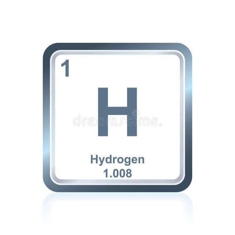 Χημικό υδρογόνο στοιχείων από τον περιοδικό πίνακα ελεύθερη απεικόνιση δικαιώματος